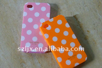 Hot selling black point silicon cases for iphone 4