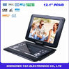 12 inch PDVD with USB/TV/Card/Game/VGA/FM transmitter