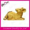 Promotion gift fabric gold placer craft animal rat