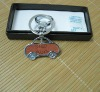 chevrolet /volkswagen cheap car logo metal keychain/honda genuine leather keychain for guys