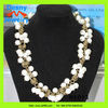 2012 latest daisy beaded bling bling jewelry withe glass beaded cluster necklace,bridal wedding beaded necklace
