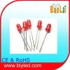 straw red lens led diode