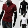 Mens Stand-Collar Slim Fit Designer Scotland Check Dress Casual Polo Shirts M-XXL