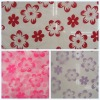 100%polyester woven voile flocking fabric for curtain fabric