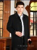 business men black winter coat /100% pure cashmere fabric