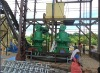 Vertical ring die hard wood pellet machine