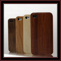 Fashion iphone 4 wood case, newest design mobile phone wood case
