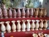 Hand carved marble vase