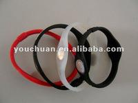 4pcs colofrul silicone wristband