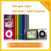 2.0 inch 5th Gen camera digital mp4 player with Touch Wheel and Camera