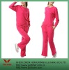 100%Polyester red women sportwear suit