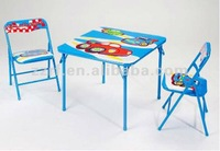 Children furniture study used kids folding table and chair