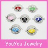 YA106 Crystal pave evil eye charms