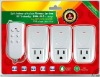 3ch intelligent wireless power socket remote control (ZABP-3)