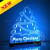 Super Slim Crystal Light Box Flashing Neon Effect