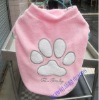 dog clothes Footprint style dog t-shirt pet clothes