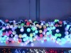 3M decorative holiday light with black PVC wire LED string light LED RGB small ball light