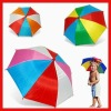Colorful Polyester Rain Umbrella Hat