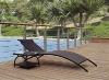rattan wicker Luxurious lounger with tables lounge beach lounge/ beach bed/ folding sun lounge/ beach chaise