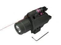Tactical 6V Xenon Flashlight & Red Laser Sight