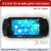 5.0 inch 3d arcade game mp5 player,4G8G16G.