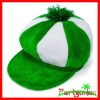 St. Patrick's Day Green & White Velvet Newsboy Hat