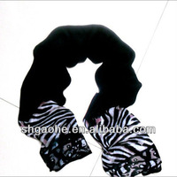100% cashmere animal leopard skin printed scarf