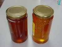 454g bottle Natural honey with comb