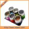 NEWEST!!! 6 pcs Magnetic stainless steel spice jar sets