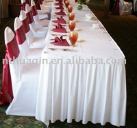 wedding polyester jersey stretch table skirt and banquet chair covers