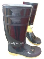 functional pvc safety boots installed with steel toe cap
