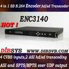 4 CVBS,SD H.264 Encoder for digital tv headend equipment