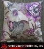 cushion cover, decorative, printed velvet fabric