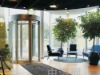 revolving door tempered glass