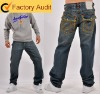 New popular fashion man jeans~true style jeans with heavy stitch~fancy jeans~denim jeans wholesale China