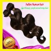 Best quality 100% remy human hair / indian body wave hair extensions #2 dark brown