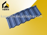 Colored metallic shingle roofing tile