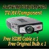 Home Theater LCD HD TV 1080P Projector HDMI DVD Video PS3 Black