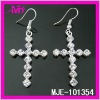 fashion rhinestone cross earrings for men