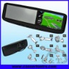 "4.3"" Digital CE/FCC bracket car rearview monitor with gps navigation"