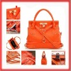 2012 Hot Genuine Leather Women Lady Handbag Tote Bag Orange