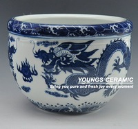 Jingdezhen Ceramic Dragon Fish Tank