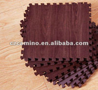 eva foam jigsaw wood grain floor mat