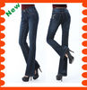 2013 new style women fashion jeans pants flares Middle-waist