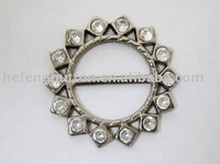 Alloy Shoe Buckle with Crystal