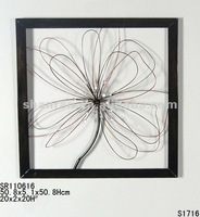 2012 New Design Square Metal Wall Decoration with Flower