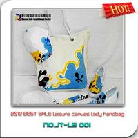 2012 BEST SALE leisure canvas lady handbag