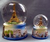 snow globe with 3D scene inside the ball