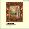 "2012 new style 12x16"" wall resin moulding gold oil painting frame"