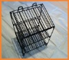 3 tray foldable wire cosmetic display rack with banner holder